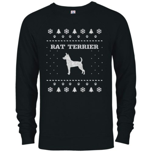 Rat Terrier Christmas Premium Crew Neck Sweatshirt