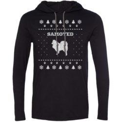 Samoyed Christmas Lightweight T-Shirt Hoodie