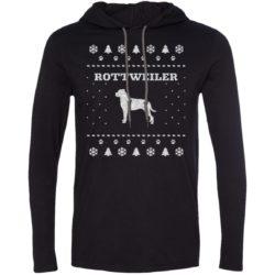Rottweiler Christmas Lightweight T-Shirt Hoodie