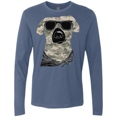 Camo Dog Premium Long Sleeve Tee