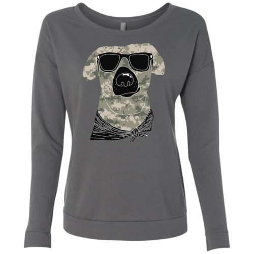 Camo Dog Scoop Neck Sweatshirt