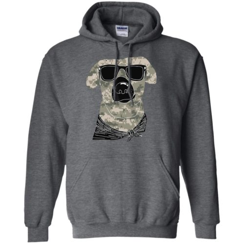 Camo Dog Pullover Hoodie
