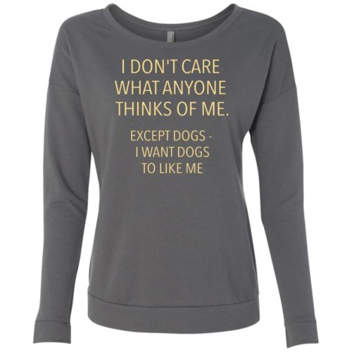 Except Dogs Scoop Neck Sweatshirt