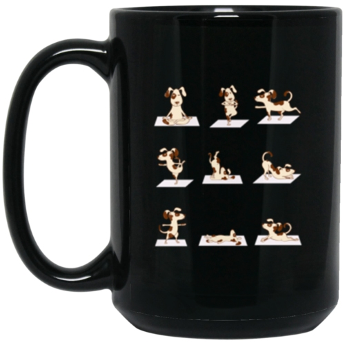 Dog Yoga Poses 15oz Mug