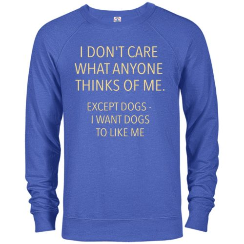 Except Dogs Premium Crew Neck Sweatshirt