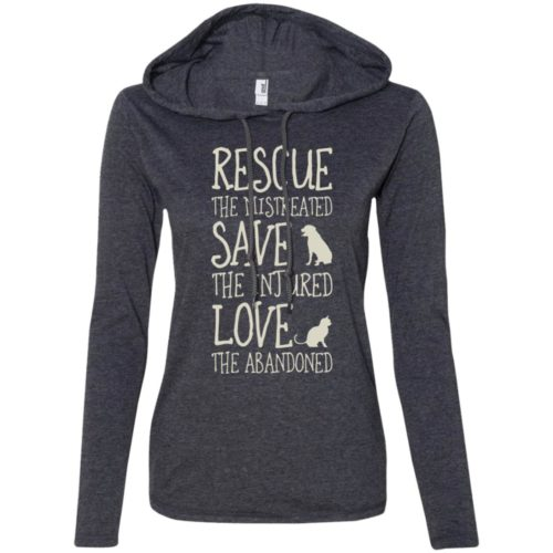 Rescue Them Ladies' Lightweight T-Shirt Hoodie