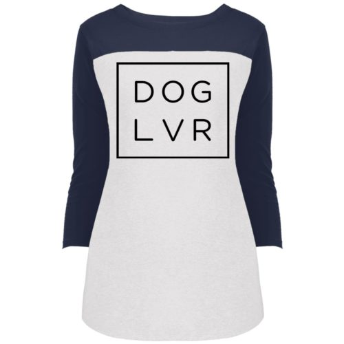 Dog Lvr Colorblock 3/4 Sleeve