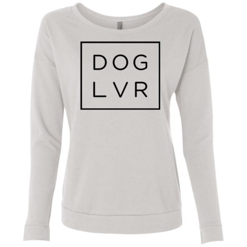 Dog Lvr Scoop Neck Sweatshirt