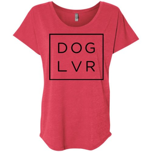 Dog Lvr Ladies' Slouchy T-Shirt