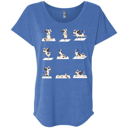 Dog Yoga Poses Ladies' Slouchy T-Shirt