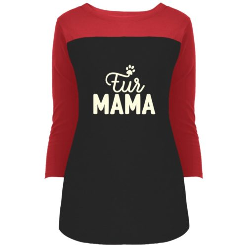 Fur Mama Colorblock 3/4 Sleeve