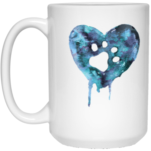 Watercolor Heart 15 oz. Mug