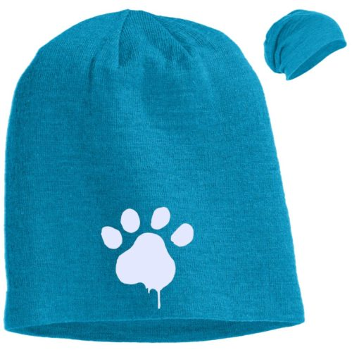 Paint Paw Embroidered Slouch Beanie