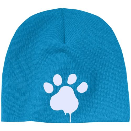 Paint Paw Embroidered Beanie