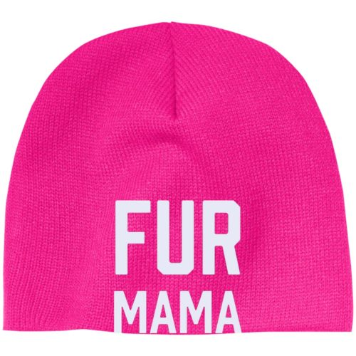 Fur Mama Embroidered Beanie