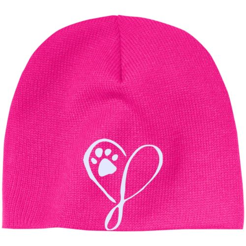 Elegant Heart Embroidered Beanie