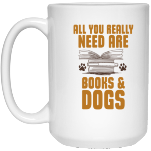 Books & Dogs 15oz Mug