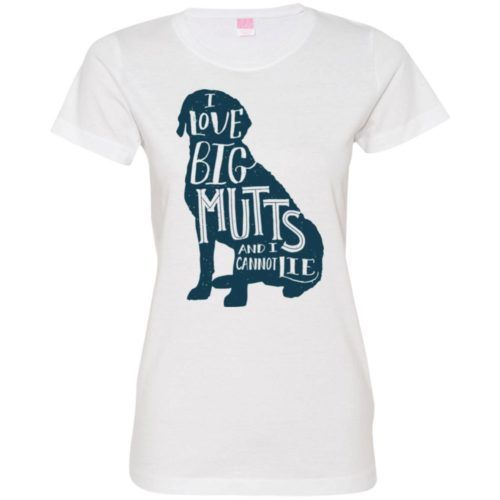 I Love Big Mutts Fitted Tee