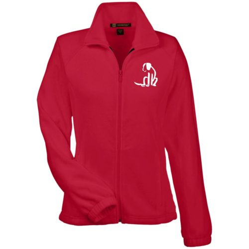Dog Sketch Embroidered Ladies' Fleece Full Zip Jacket
