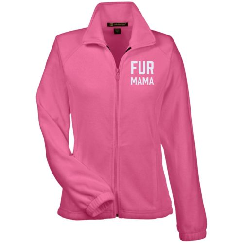 Fur Mama Embroidered Fitted Fleece Jacket