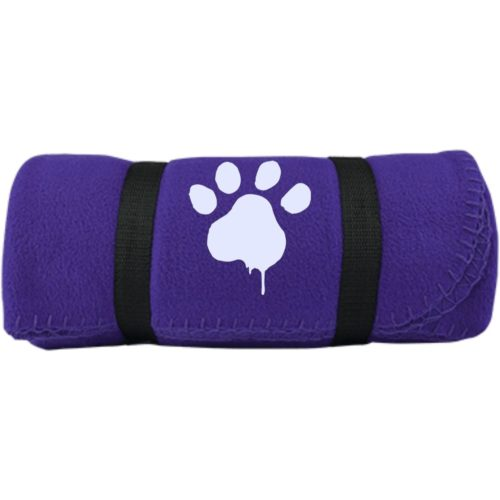 Paint Paw Embroidered Fleece Blanket