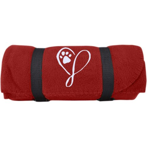 Elegant Heart Embroidered Fleece Blanket