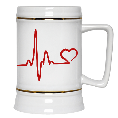 Heartbeat Paw Beer Stein 22oz.