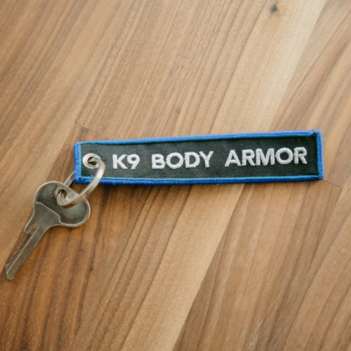 K9 Body Armor Embroidered Canvas Key chain