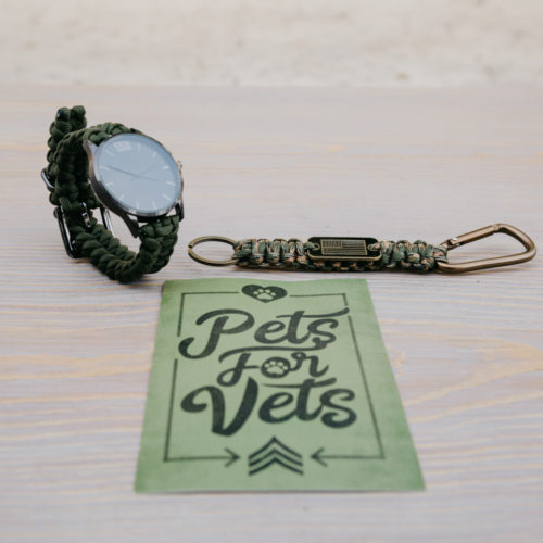Camo Paracord Watch+Keychain Gift Bundle: Each Purchase Helps Pair a Veteran with a Companion Dog