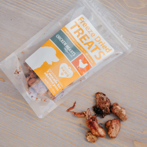 Single Ingredient Chicken Hearts Freeze Dried Treats