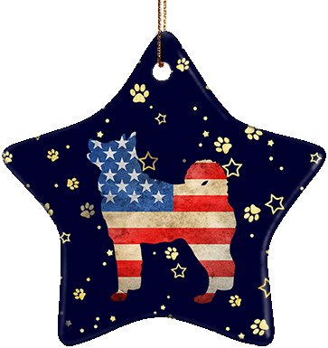 Akita USA Ceramic Star Ornament