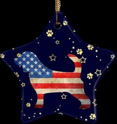 Beagle USA Ceramic Star Ornament