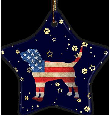 Bloodhound USA Ceramic Star Ornament