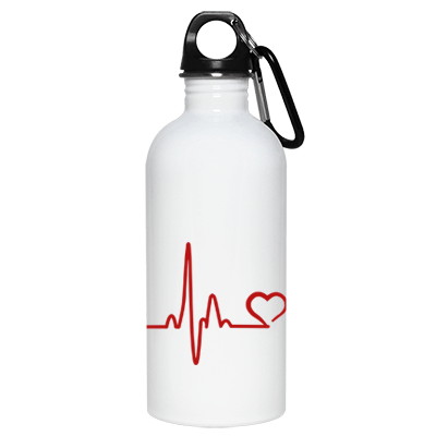 Heartbeat Paw Stainless Steel Water Bottle