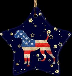 Boxer USA Ceramic Star Ornament