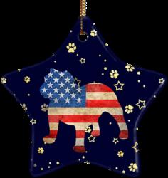 Bulldog USA Ceramic Star Ornament