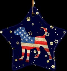 Cane Corso USA Ceramic Star Ornament