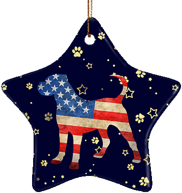 Cane Corso USA Ceramic Star Ornament