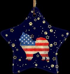 Chow Chow USA Ceramic Star Ornament