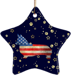 Corgi USA Ceramic Star Ornament