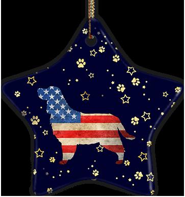 English Springer Spaniel USA Ceramic Star Ornament