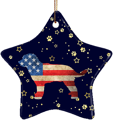 Golden Doodle USA Ceramic Star Ornament