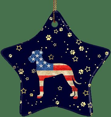 Great Dane USA Ceramic Star Ornament