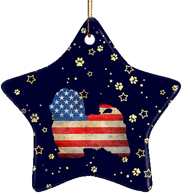 Havanese USA Ceramic Star Ornament