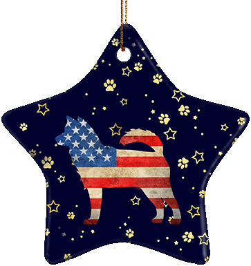 Husky USA Ceramic Star Ornament
