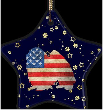 Japanese Chin USA Ceramic Star Ornament
