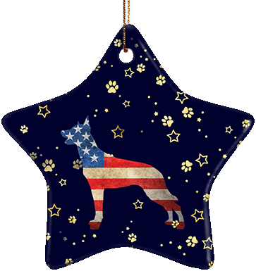 Malinois USA Ceramic Star Ornament