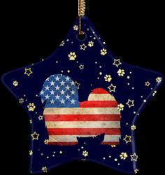 Maltese USA Ceramic Star Ornament