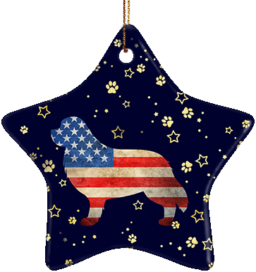 Newfoundland USA Ceramic Star Ornament