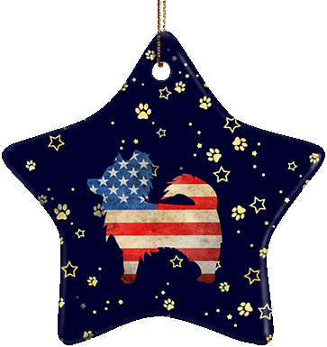 Papillon USA Ceramic Star Ornament